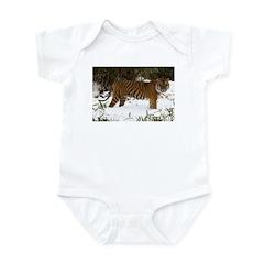 Tiger Standing in Snow Infant Bodysuit