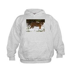 Tiger Standing in Snow Hoodie