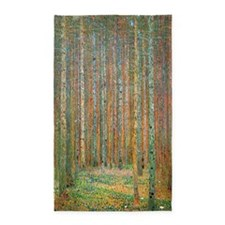 Gustav Klimt Pine Forest 3'x5' Area Rug