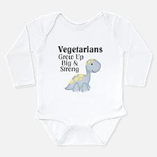 Vegetarian Dinosaur Long Sleeve Infant Bodysuit