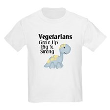 Vegetarian Dinosaur Kids T-Shirt