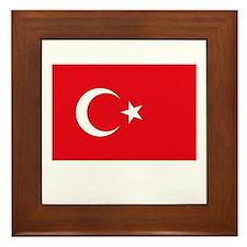 Turkey Flag Picture Framed Tile