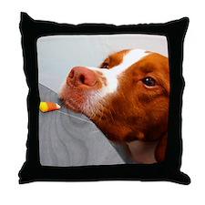 Candy corn dog Throw Pillow