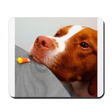 Candy corn dog Mousepad