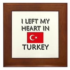 I Left My Heart In Turkey Framed Tile