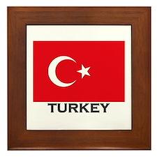 Turkey Flag Gear Framed Tile