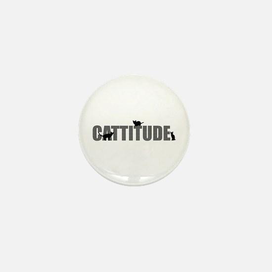 Cattitude Mini Button