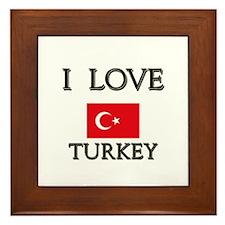 I Love Turkey Framed Tile