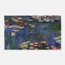 Claude Monet Water Lilies 3'x5' Area Rug