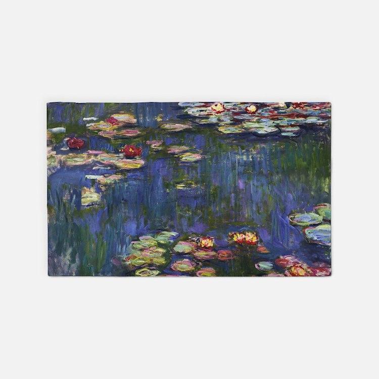 Claude Monet Water Lilies 3'x5' Area Rug