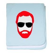 BeardoGlasses baby blanket