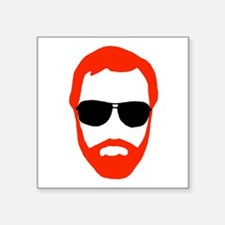 "BeardoGlasses Square Sticker 3"" x 3"""