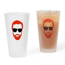 BeardoGlasses Drinking Glass