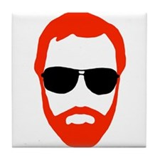 BeardoGlasses Tile Coaster
