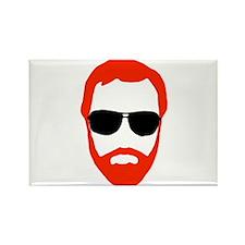 BeardoGlasses Rectangle Magnet