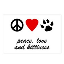 Peace Love and Kittiness Postcards (Package of 8)