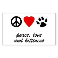 Peace Love and Kittiness Decal
