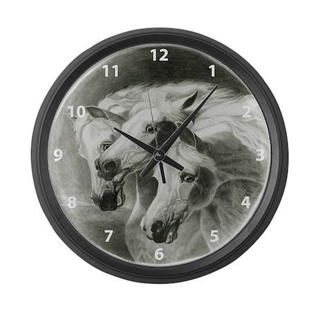Pharaoh's Horses Large Wall Clock
