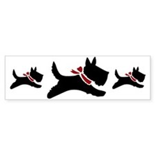 Holiday Scotties Bumper Sticker
