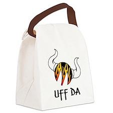 Moreuffdaflames.jpg Canvas Lunch Bag