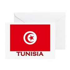 Tunisia Flag Merchandise Greeting Cards (Package o