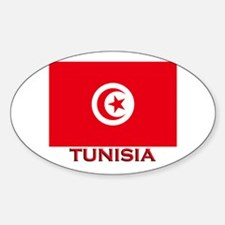 Tunisia Flag Merchandise Oval Decal