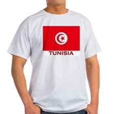 Tunisia Flag Merchandise Ash Grey T-Shirt