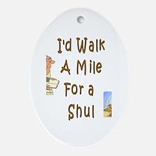 Walk to Shul Oval Ornament