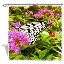 Cute Butterfly Shower Curtain