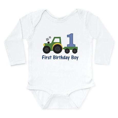 1st Birthday Tractor Body Suit