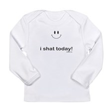 i shat today Long Sleeve Infant T-Shirt
