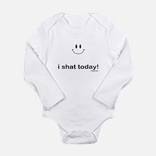 i shat today Long Sleeve Infant Bodysuit