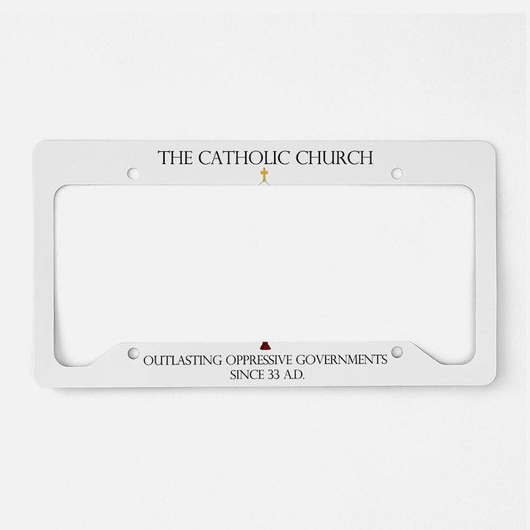 The Catholic Church License Plate Holder