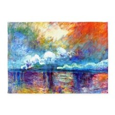 Monet Charing Cross Bridge 5'x7'Area Rug