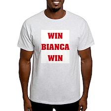 WIN BIANCA WIN Ash Grey T-Shirt