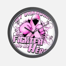 My Grandma Is A Fighter And My Hero Wall Clock