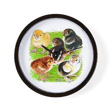 Five Chicks Wall Clock