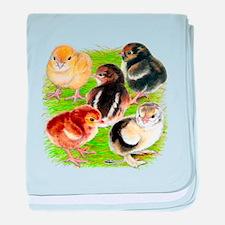 Five Chicks baby blanket