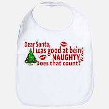 Naughty Christmas Bib
