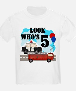 Everyday Heroes 5th Birthday Kids T-Shirt T-Shirt