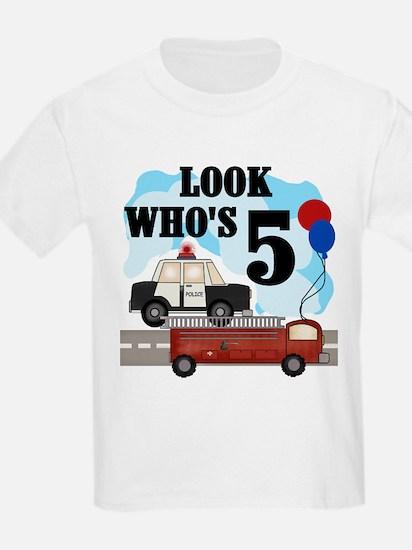 Everyday Heroes 5th Birthday Kids T-Shirt T-Shirt