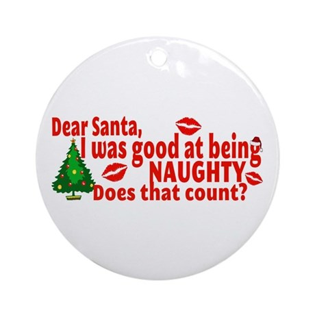 Naughty Christmas Ornament (Round)