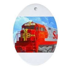 SANTA FE LOCO #352 Ornament (Oval)