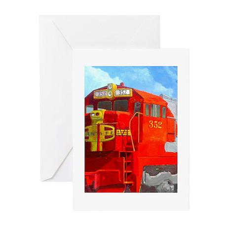 SANTA FE LOCO #352 Greeting Cards (Pk of 20)
