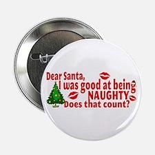 """Naughty Christmas 2.25"""" Button"""