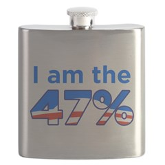 I am the 47% with Obama Logo Flask