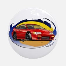 Red CRX Ornament (Round)
