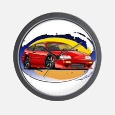 Red CRX Wall Clock