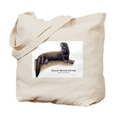Giant River Otter Tote Bag