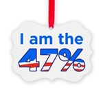 I am the 47% with Obama Logo Picture Ornament